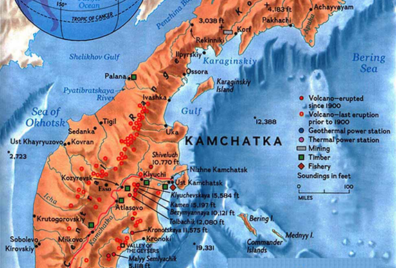 Kamchatka is located just west of the Aleutian Islands. (Photo: The Lost Worlds)